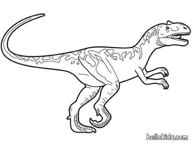 Animal Velociraptor Colouring