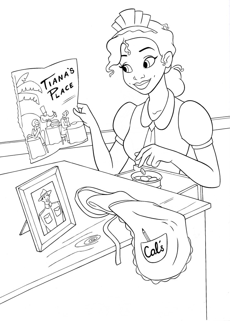 Baby Tiana Coloring Pages