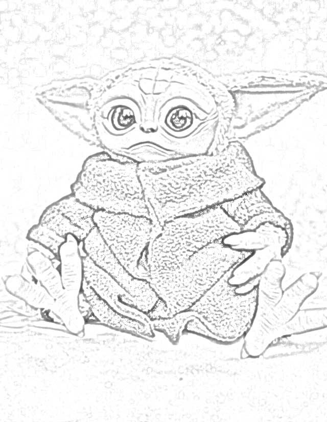Baby Yoda Coloring