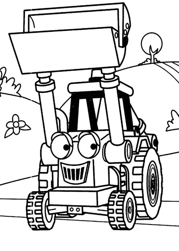 Backhoe Coloring Page