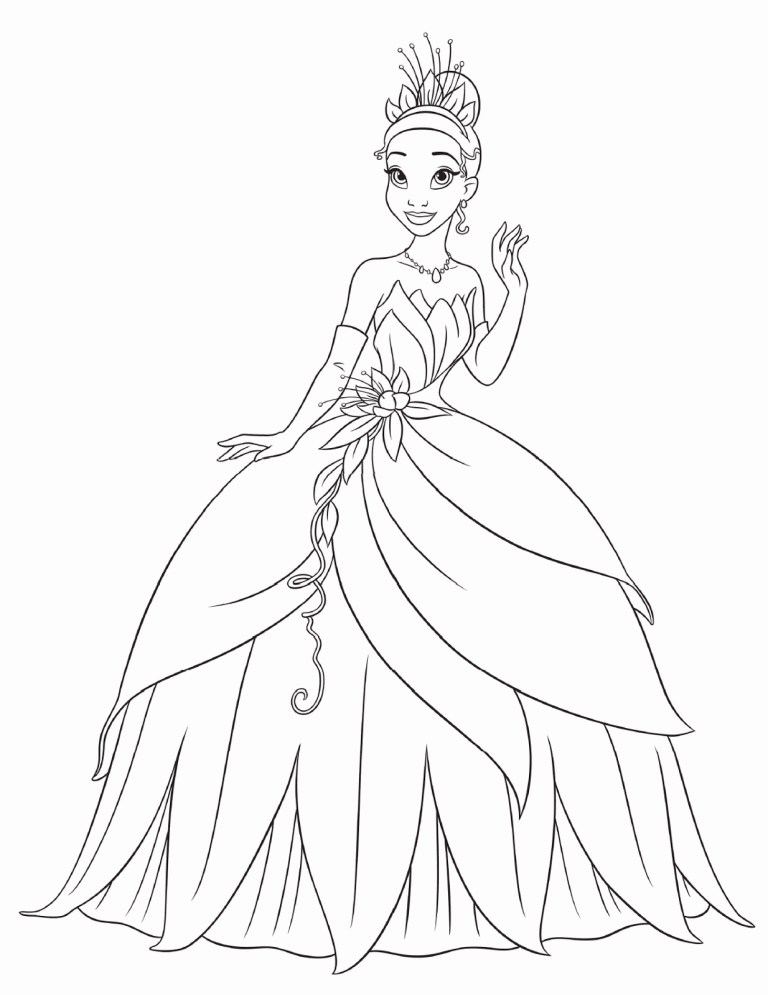 Belle Beauty And The Beast Coloring Page