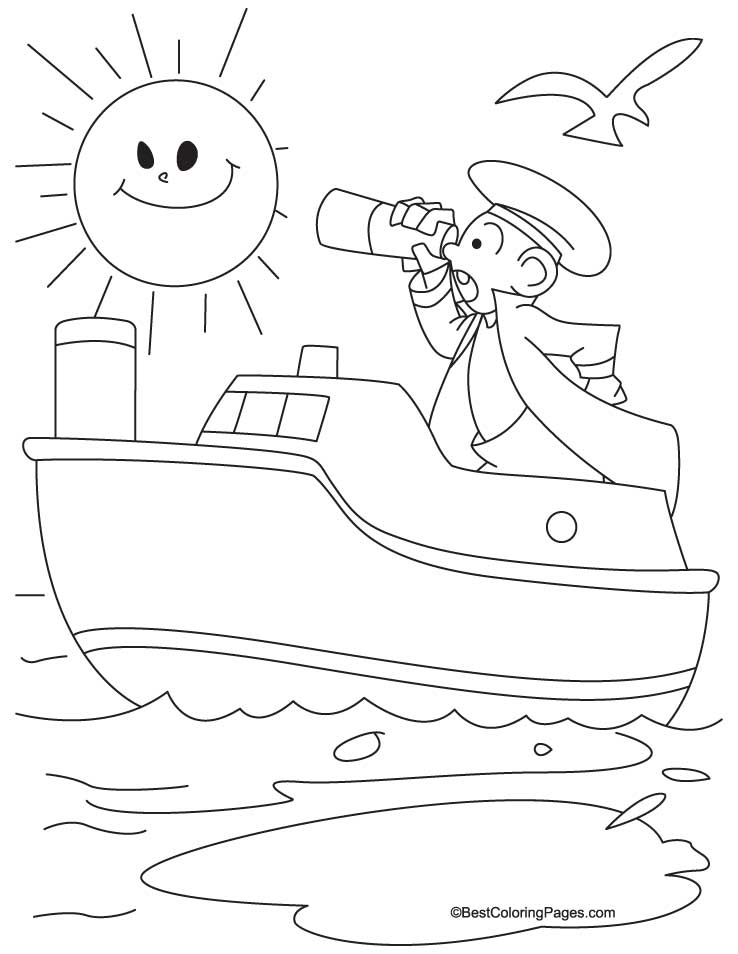 Boat Colouring Pages for kids