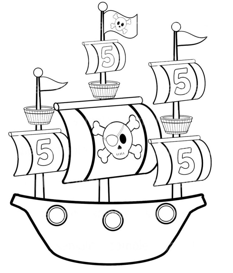 Boat Pictures To Colour