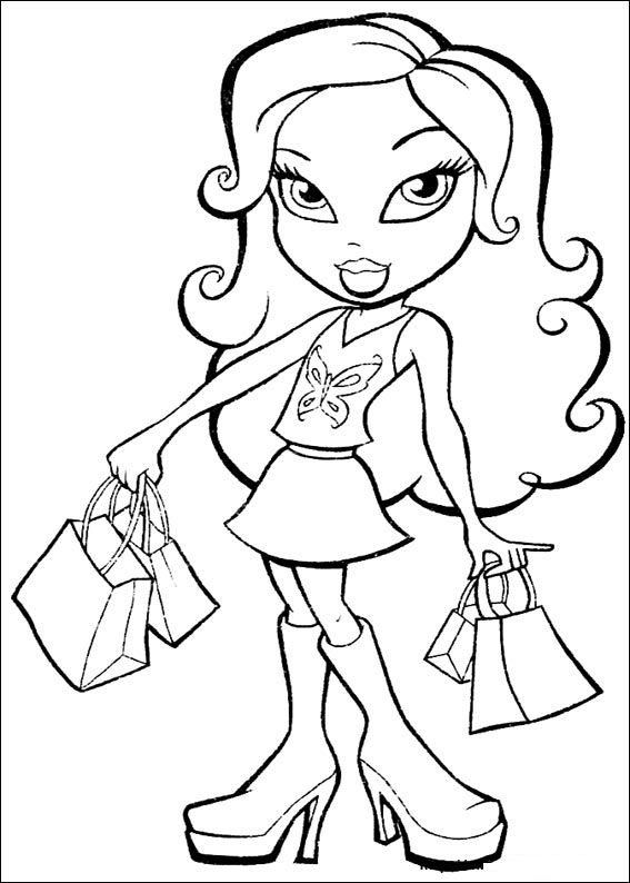 Bratz Cheerleading Coloring Pages