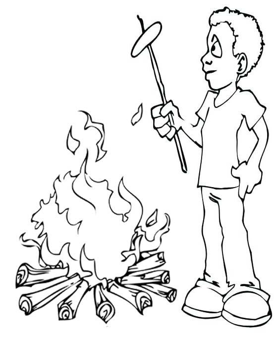 Campfire Coloring Free Downloads