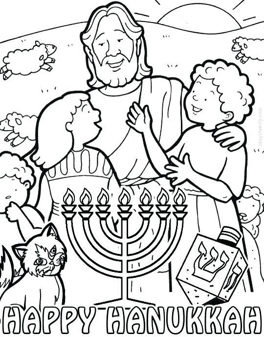 Chanukah Coloring Page