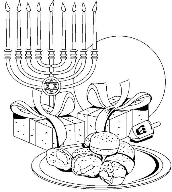 Chanukah Coloring Sheets