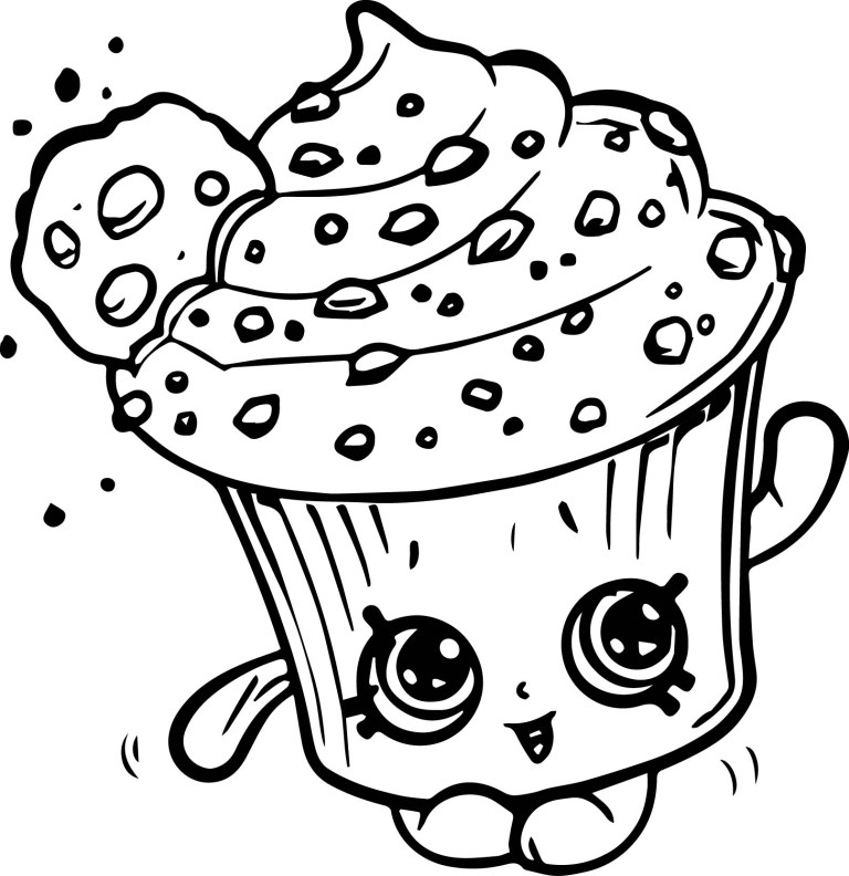 Chocolate Chip Cookie Coloring Pages
