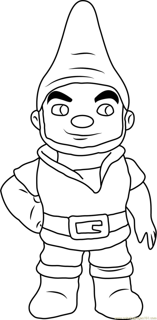 Christmas Gnome Coloring Pages