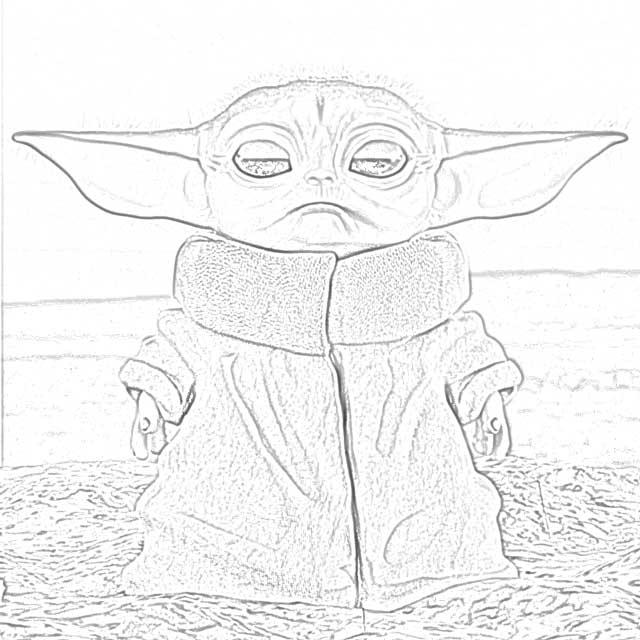 Color Baby Yoda