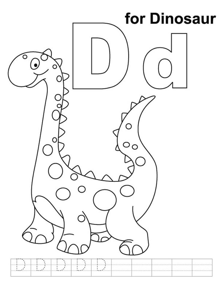 Coloring Letter D