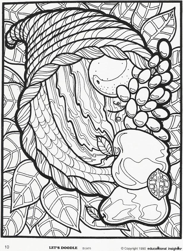 Coloring Page Cornucopia