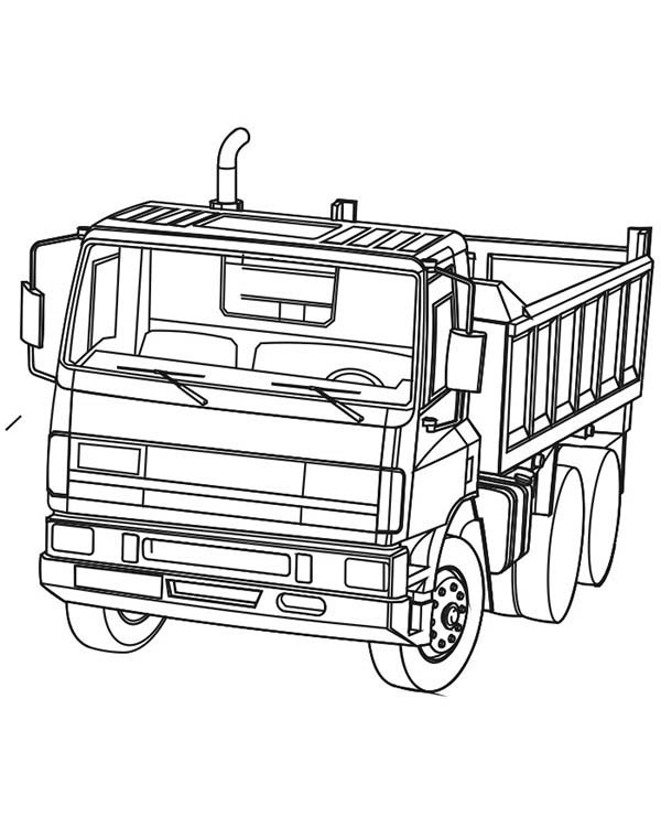 Coloring Page Dump Truck