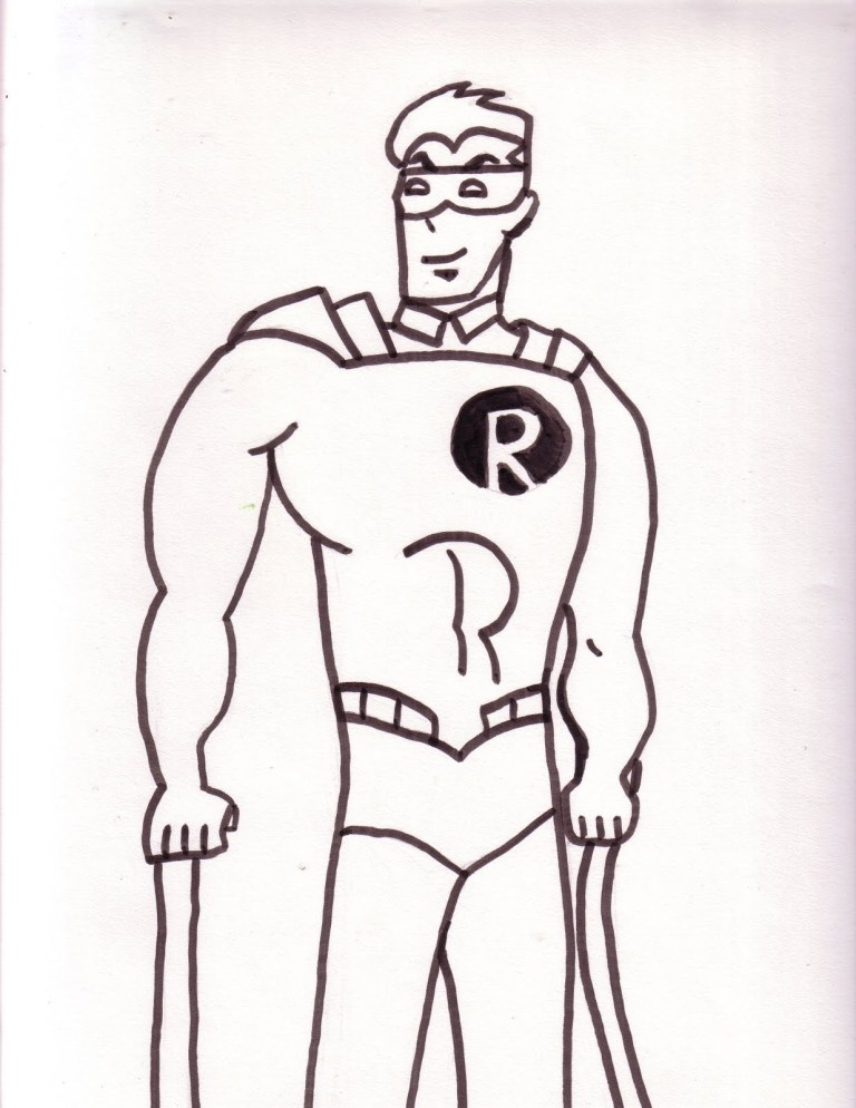 Coloring Page Of Robin