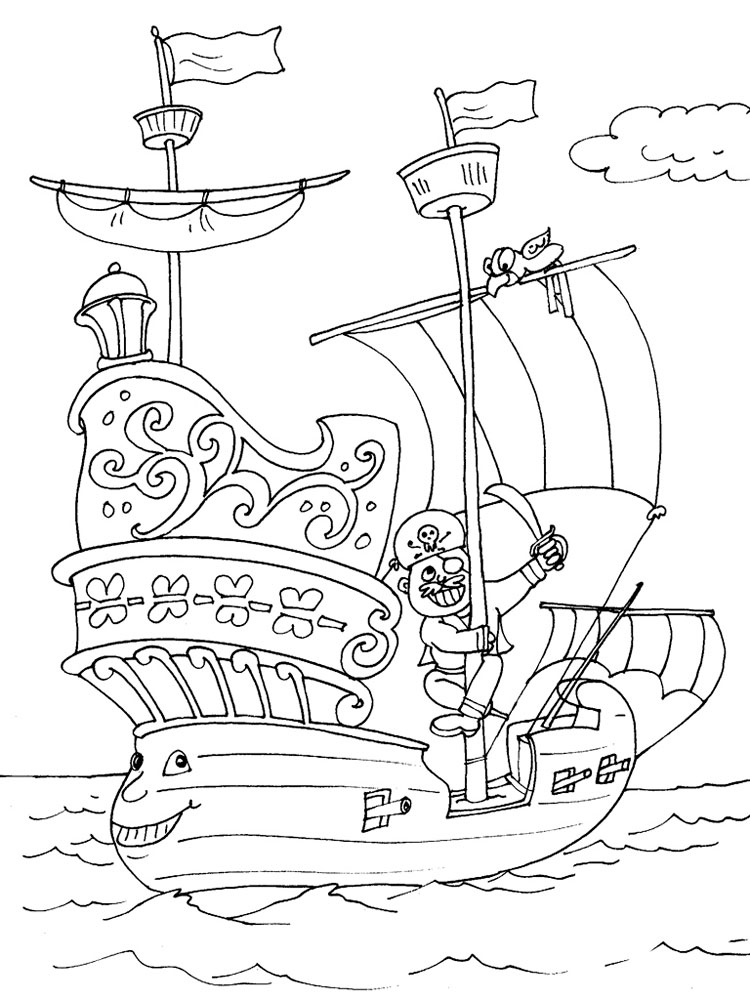 Coloring Page Ship