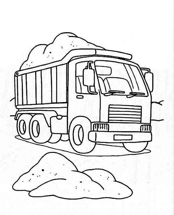 Coloring Pages Dump Trucks