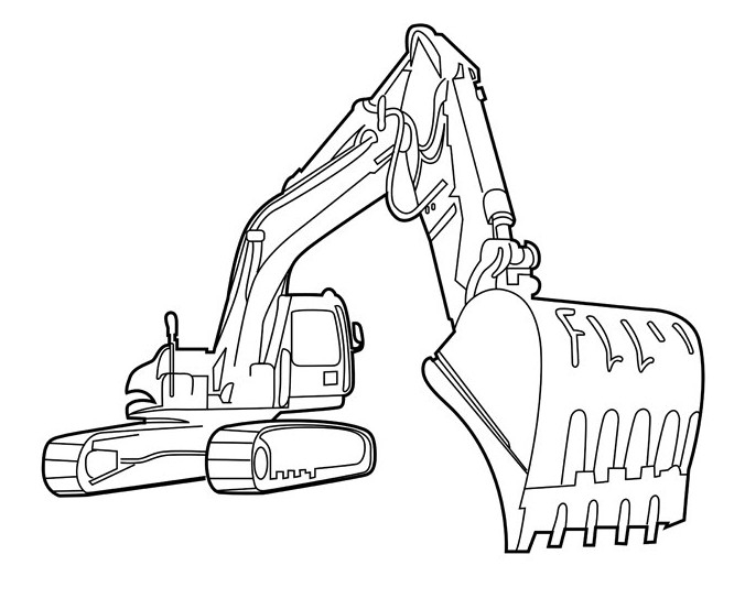 Coloring Pages Excavator