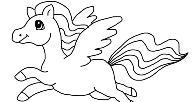 Coloring Pages Of Unicorns With Wings