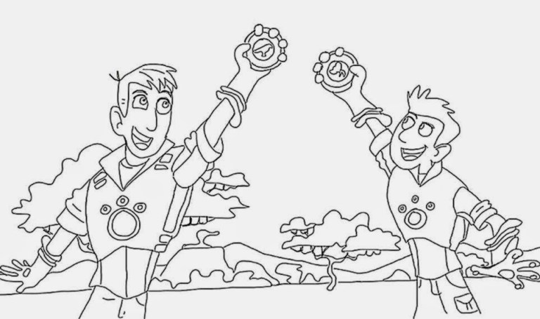 Coloring Pages Of Wild Kratts