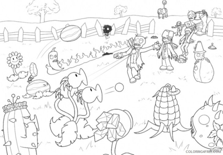 Coloring Pages Plants Vs Zombies