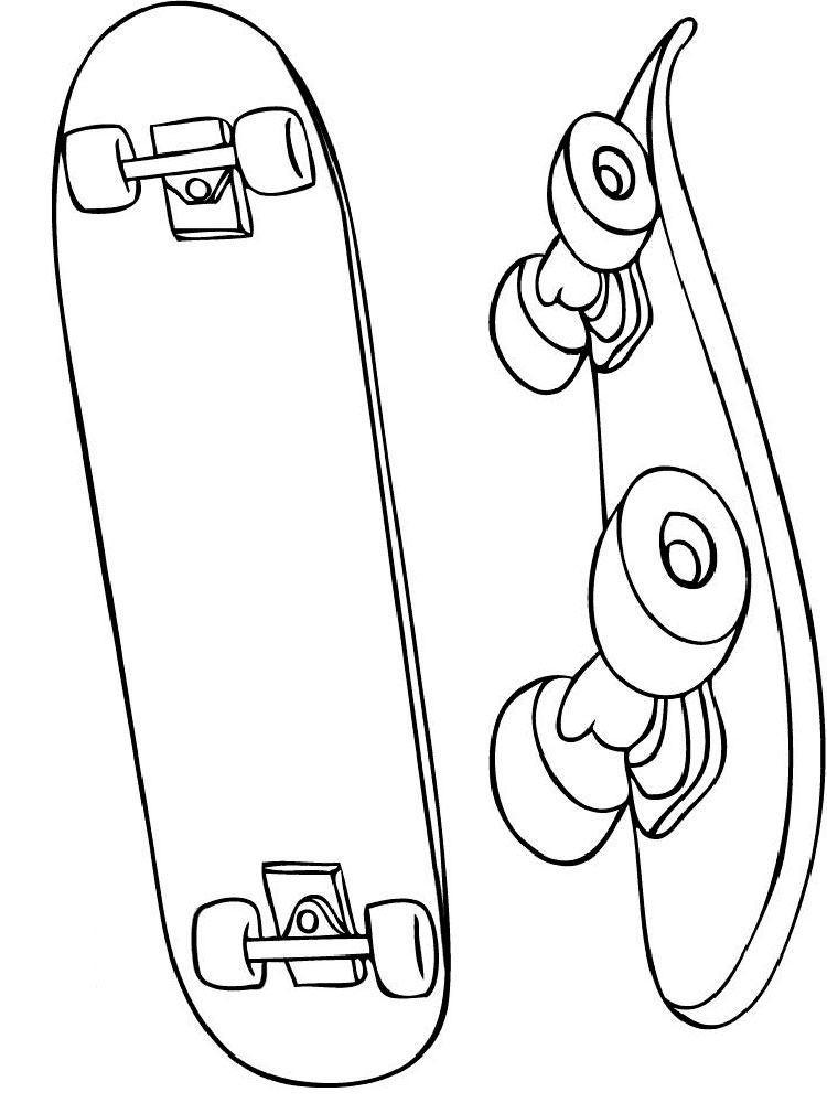 Cool Skateboard Coloring Pages