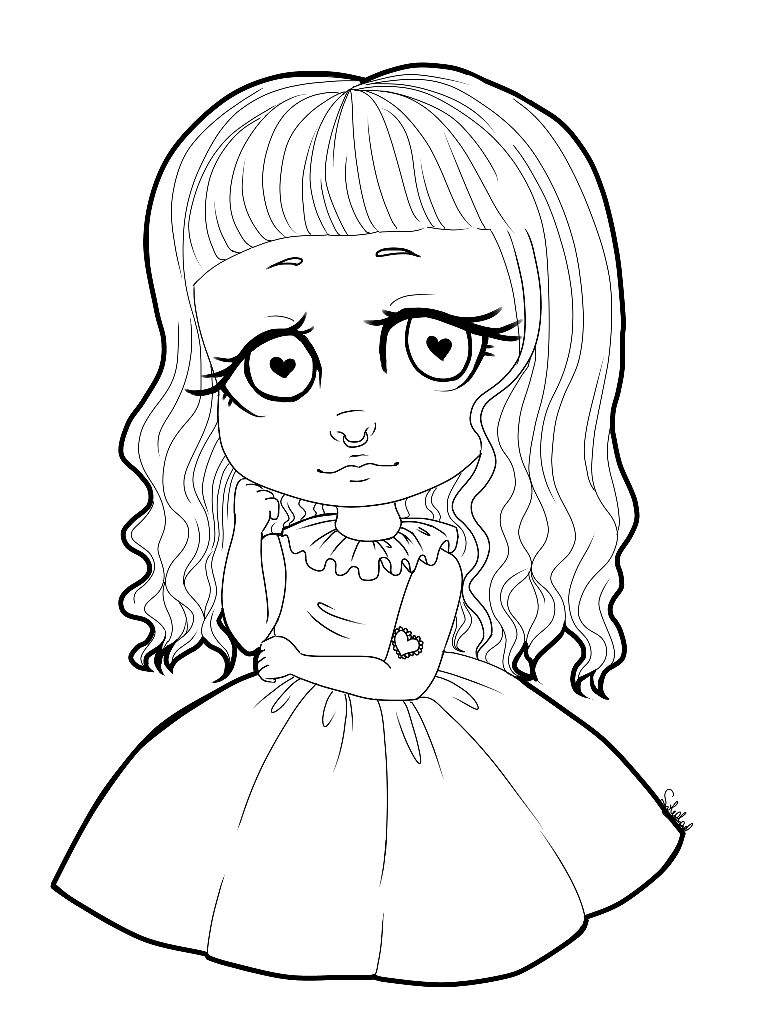 Cry Babies Fantasy Coloring Pages