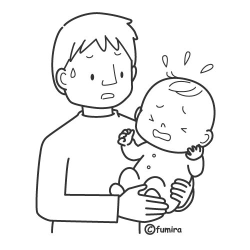 Crying Coloring Page