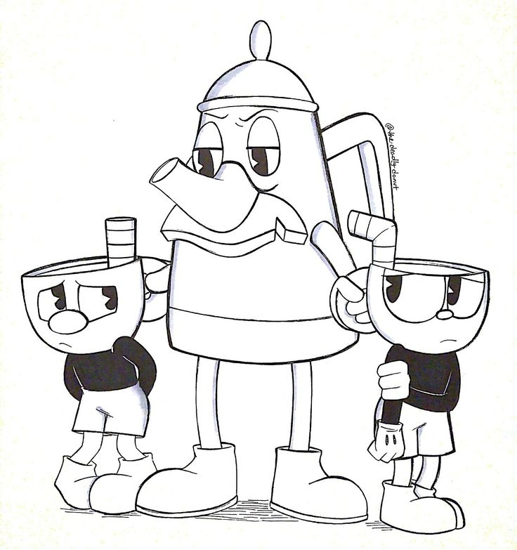 Cuphead Bosses Coloring Pages