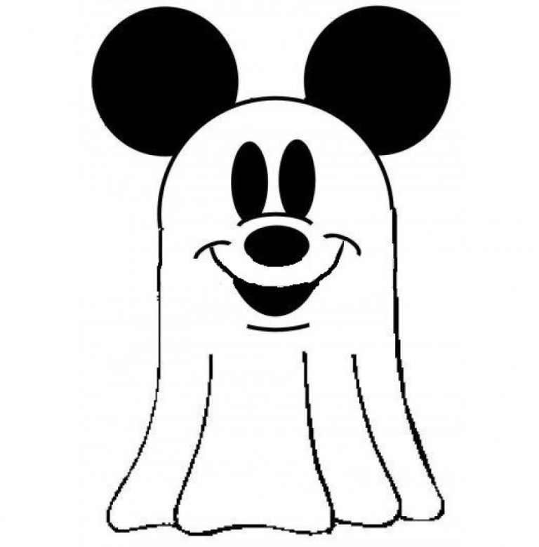 Cute Ghost Coloring Pages for Kids