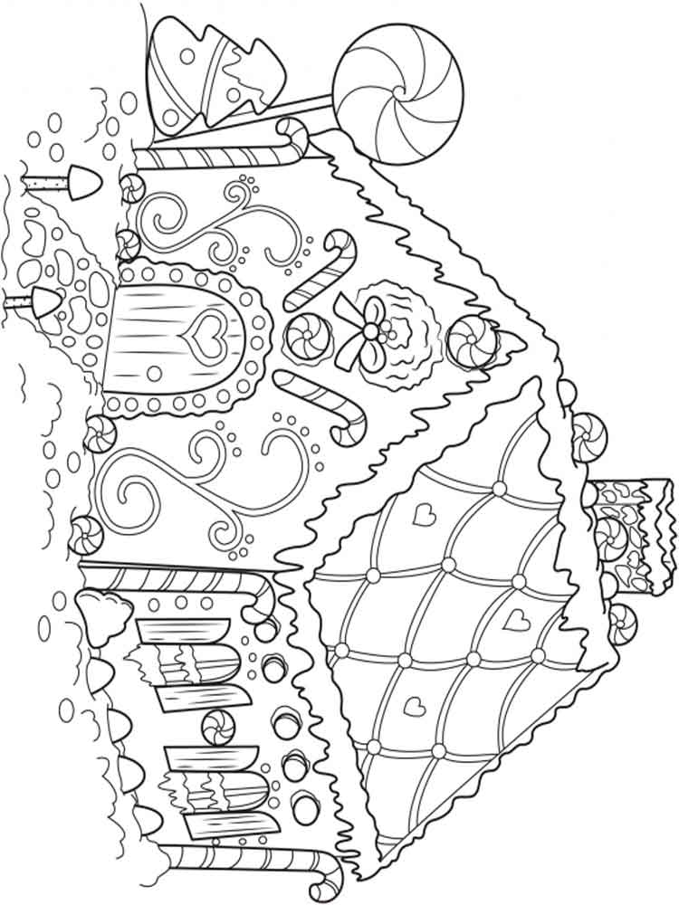 Cute Gingerbread Man Coloring Page