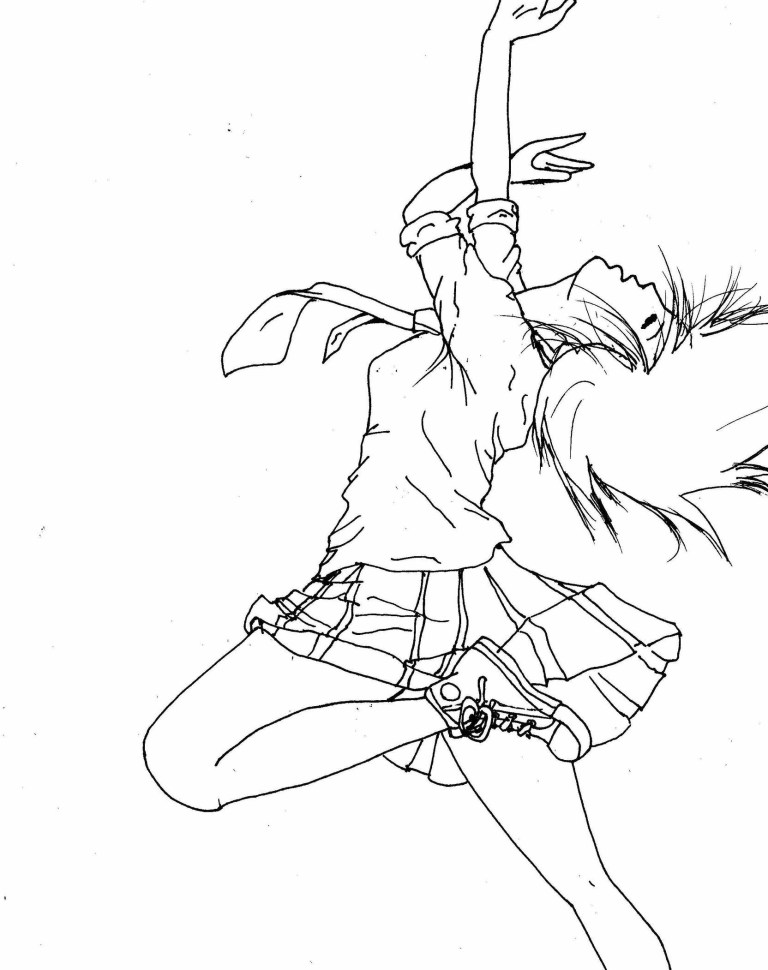 Dance Colouring Pages for girls