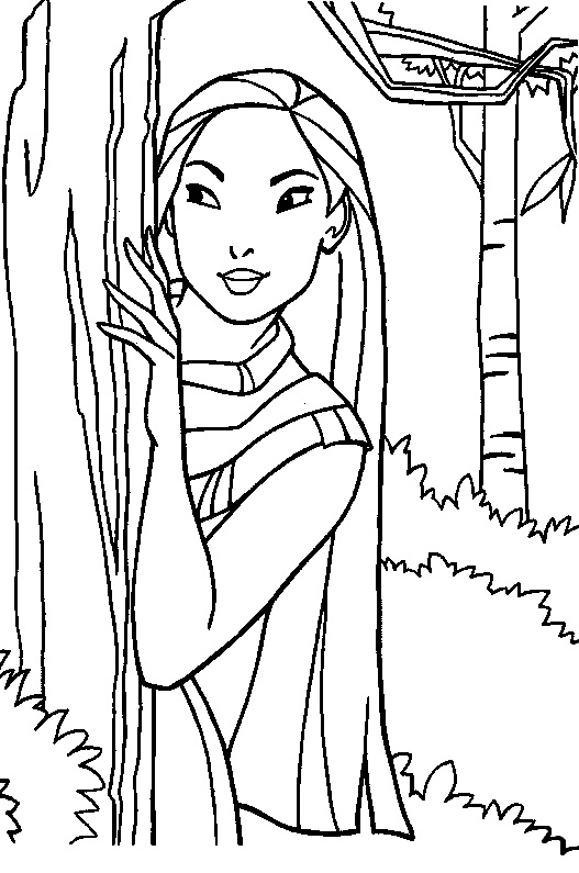 Disney Pocahontas Coloring Pages