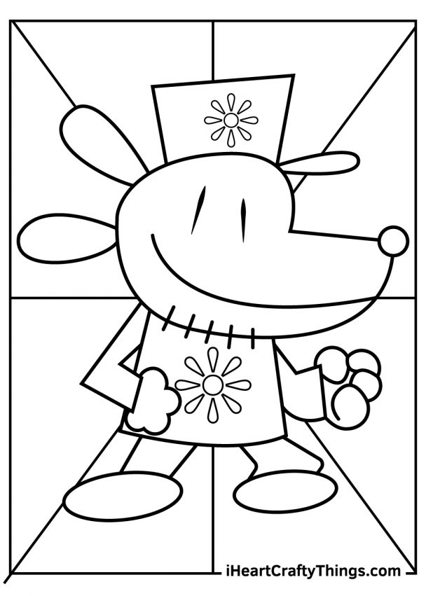 Dog Man Coloring Pages printable