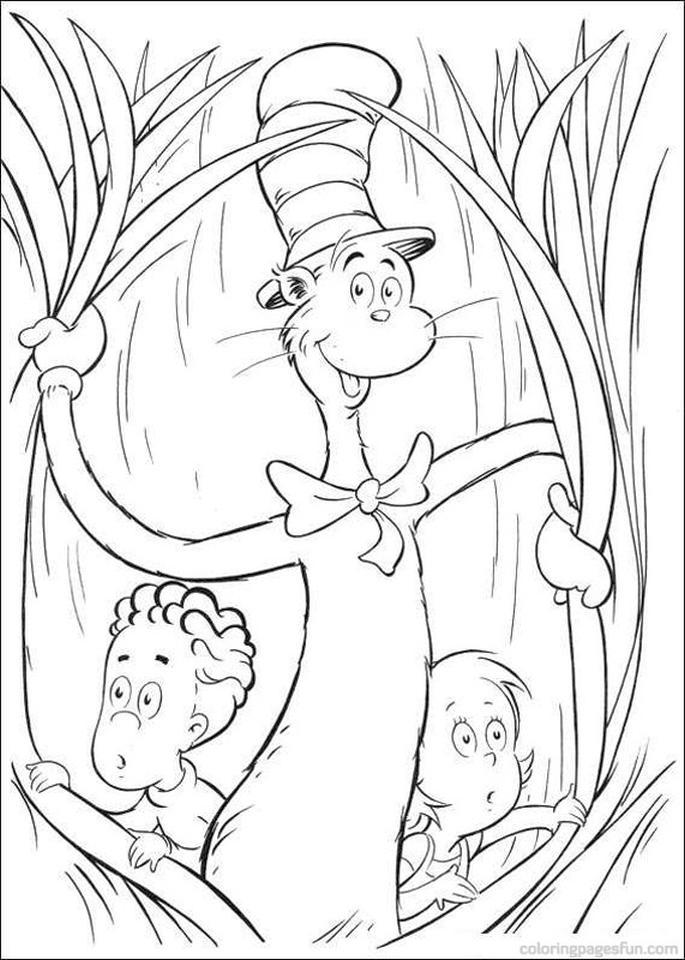 Dr.Seuss Hat Color Page