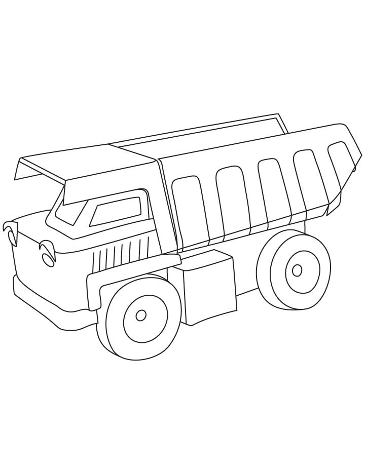 Dump Truck Pictures To Color