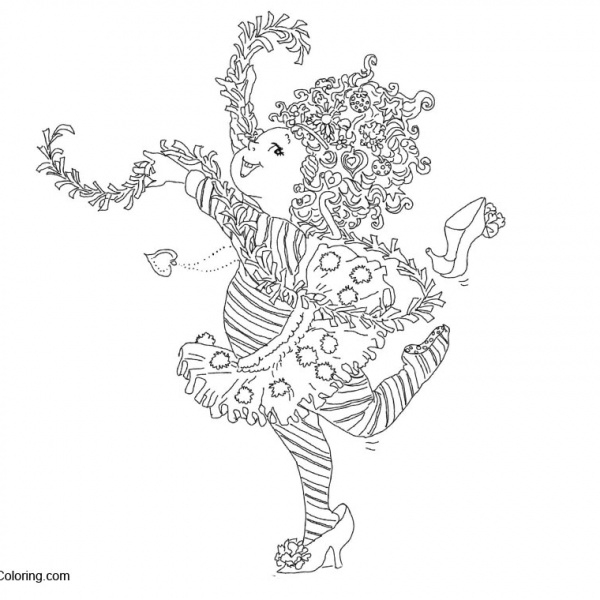 Fancy Nancy Printable Coloring Pages