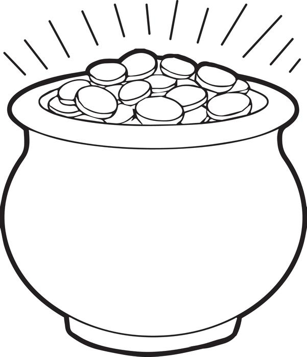 Flower Pot Coloring Page Printable