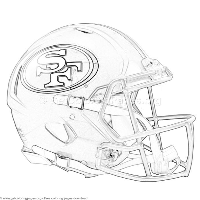 Football Helmet Coloring Sheets