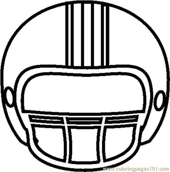 Football Helmets Coloring Pages