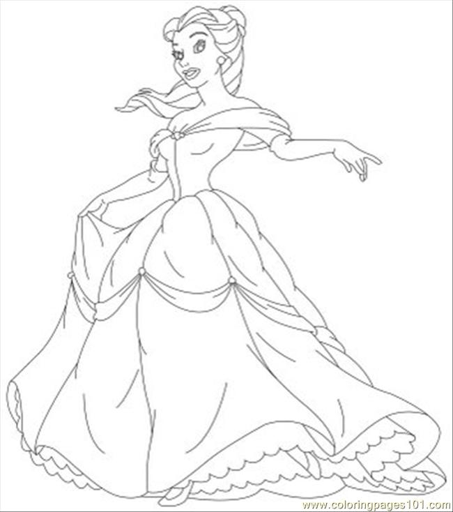 Free Belle Coloring Pages