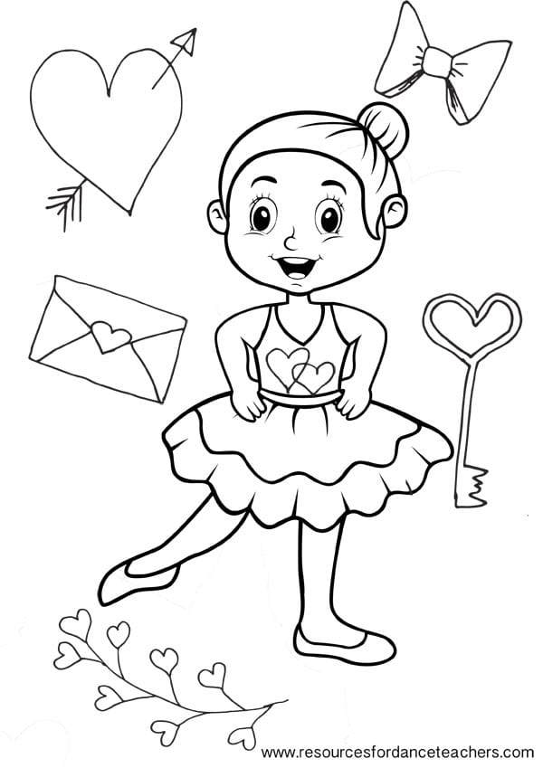 Free Dancing Coloring Pages