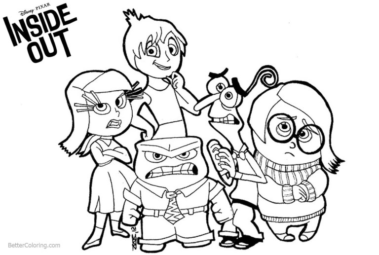 free inside out coloring pages all characters