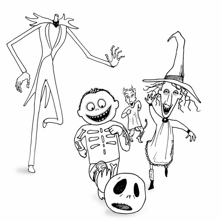 Free Jack Skellington Coloring Page
