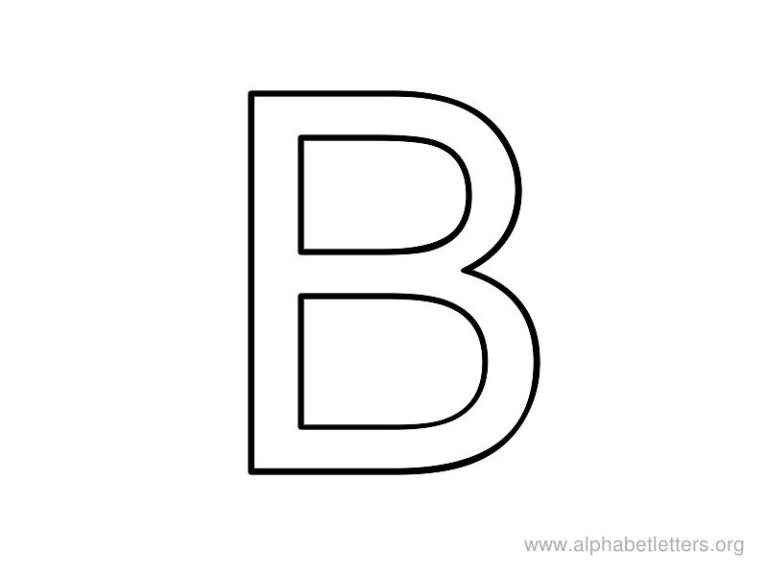 free letter b coloring pages preschool and kindergarten