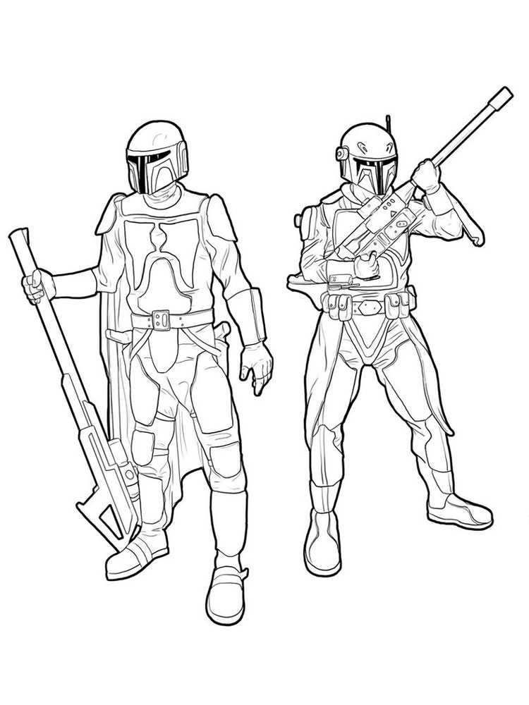 Free Mandalorian Coloring Pages