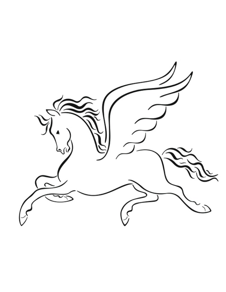 Free Pegasus Coloring Pages