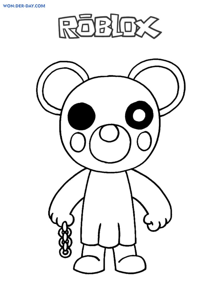 Free Piggy Coloring Pages