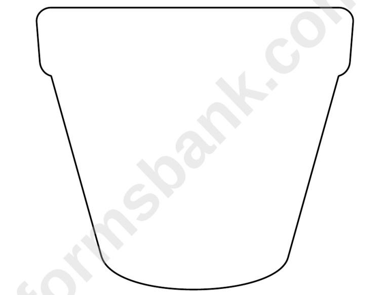 Free Printable Flower Pot Template