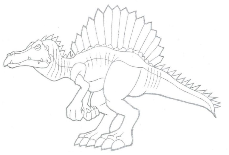 Free Spinosaurus Coloring Page