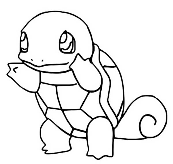 Free Squirtle Coloring Page